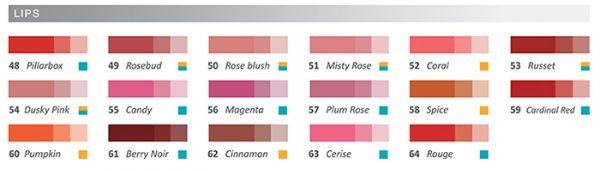 colorwheeel lip pigments